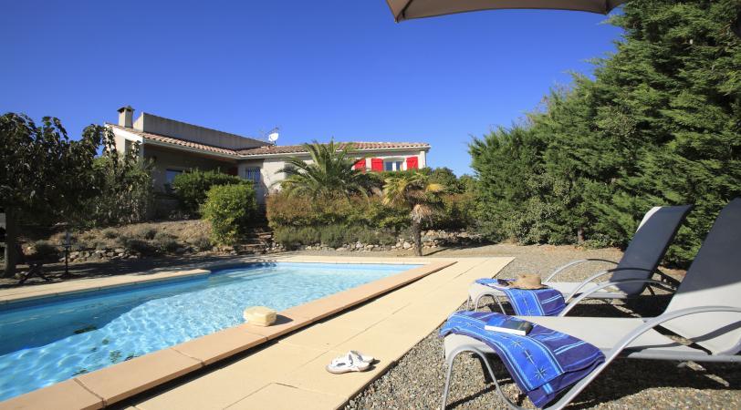 Le Muscat villa avec piscine à louer à Prades-sur-Vernazobre