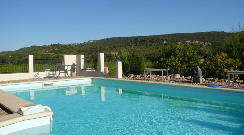 Le Papillon villa avec piscine à louer à Prades-sur-Vernazobre