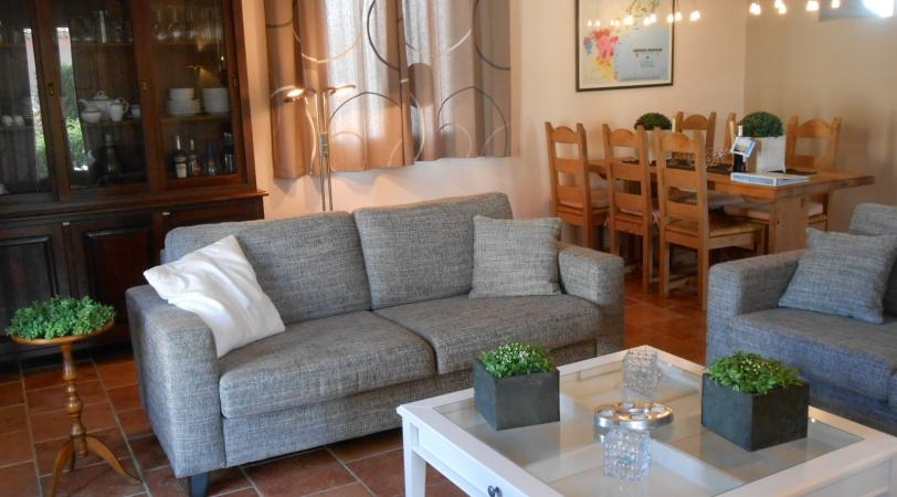Living room of Le Papillon, vacation villa in Prades-sur-Vernazobre